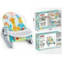 2 in 1 multifunctional baby rocking chair with dinner plate seat music vibration comfort recliner
