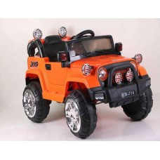 Ride on Car Jeep 12V Electric Truck Kids Battery Powered Remote Control AUX CE Licensed FB-716- Orange