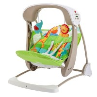 Fisher-Price SmartSwing Technology provides soothing 6-speed swing Easily converts to stationary calming vibrations baby seat