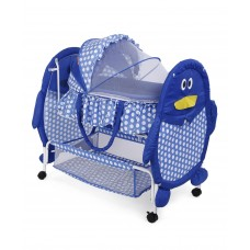 Swinging Cradle With Animal Design-blue