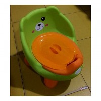 Needs & Choice Baby Child Cartoon Potty Seat - Lime and Orange