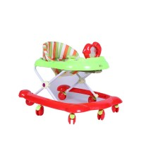 Dolphin Baby Walker - Red and Green