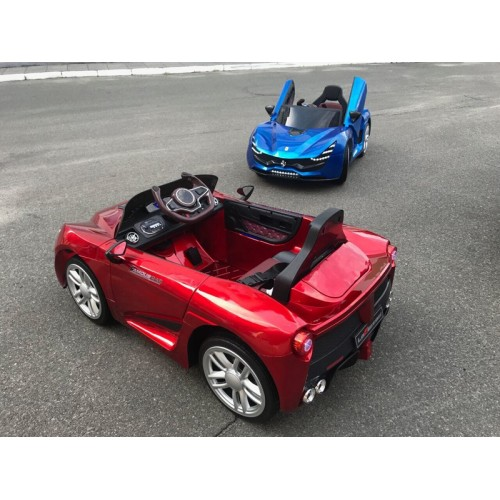 Electric car Kids auto Ferrari LaFerrari style Blue lacquer (HZBB-7587)