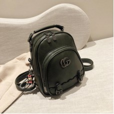 Female College Stylish Backpack PU leather