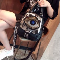 Rhinestone soft leather women western style three-purpose bag Original PU leather