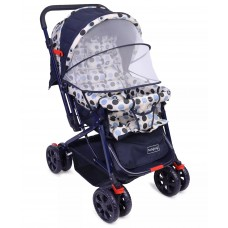 Babyhug Moon Walk Stroller - Cream & Blue