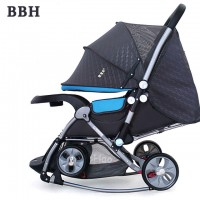 BBH 720-N Baby Cradle Stroller (Blue)