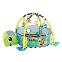 Baby gym rack and game pad combo baby gym play mat with 30 toy balls