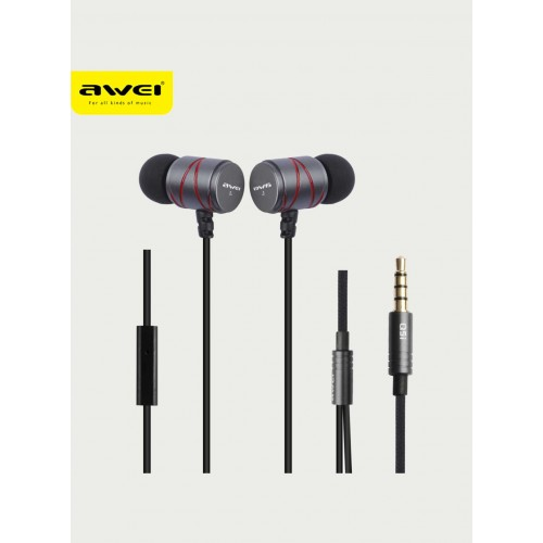 Awei Steelseries Q5I Metal Stereo Earphone Super Bass Headset with MIC
