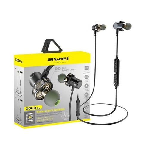Awei X660BL Quad-core Necked Magnetic Bluetooth Earphone in bangladesh