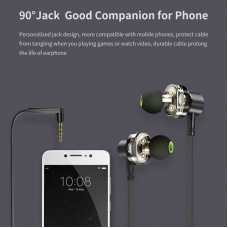 Awei Z1 In-ear Wire Control Earphone Dual Dynamic Units Earbuds in bangladesh