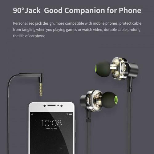 Awei Z2 In-ear Wire Control Earphone Dual Dynamic Units Earbuds in bangladesh
