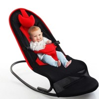 SOKANO Multifunctional Premium Baby Rocking Chair with Adjustable Angle and Safety Belt- Red