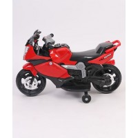 Steel and Plastic Chargeable Motor Bike - Red