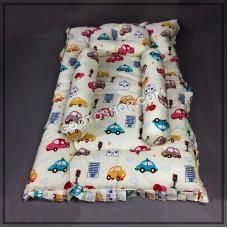 Premium Cotton Cartoon Printed Bedding Set (1 Bed, 1 pillow & 2 side pillow)
