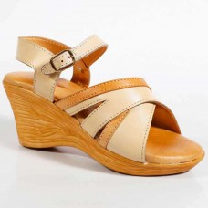 Beige Color Leather Ladies High Heels for Women -AA061