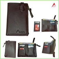 Semi Long Wallet with Card Holder Option Chocolate-WA01