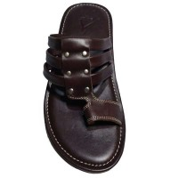 Choklet Color Leather Slipper For Men AA083 CHK