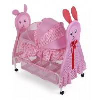 Baby Cradle Heart Print - pink