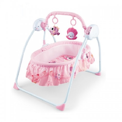 High quality comfortable electric new born baby swing bed with music