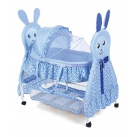 Baby Cradle Heart Print - Blue