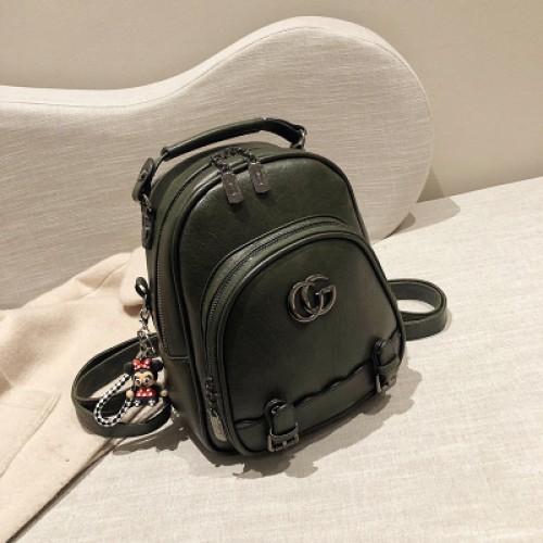 Female College Stylish Backpack PU leather