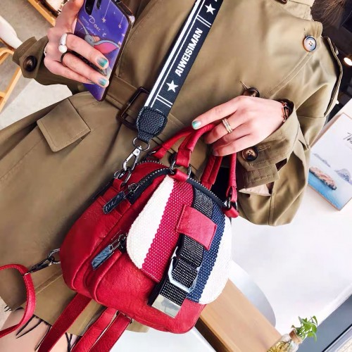 Korean fashion style diagonal cross bag multi-purpose small backpack for women's
