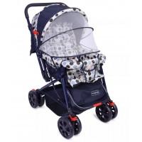 Babyhug Moon Walk Stroller - Cream & Blue