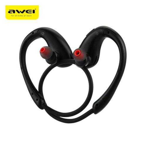 Awei A885BL Sports Waterproof Bluetooth Headphone Wireless Earphone With NFC (Black)