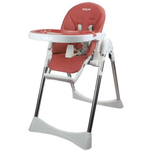 IVOLIA champagne free easy infant installed wholesale plastic baby dining chair adjustable high chair folding chair pink