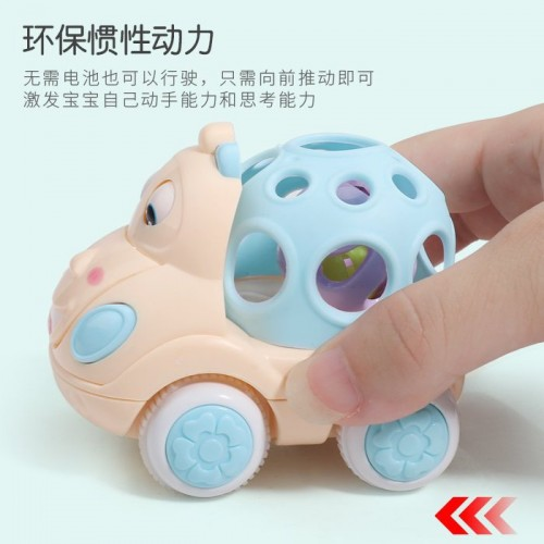 Baby with sound can move the inertial car with handbell, infant early education puzzle can run boy and girl toy, Mickey